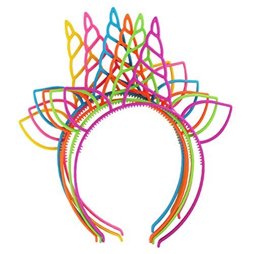YeahiBaby 18 Stücke Einhorn Haarreif Horn Stirnband Haarband Kopfschmuck für Mädchen Kinder Weihnachten Party Kostüm Deko