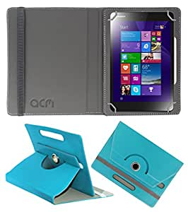 Acm Rotating 360° Leather Flip Case For Lenovo Miix 3 8 Tablet Cover Stand Greenish Blue