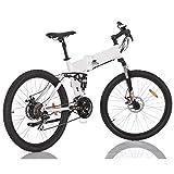 e-Bike Elektrofahrrad Full-Suspension Mountainbike Pedelec Elektro Fahrrad Elektrisches Klapprad 350 Watt