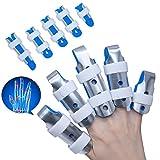 Doigt d'attelle de Sumifun,attelles de doigt de DIP de maillet, attelle d'extension de doigt pour le doigt de déclenchement,doigt de maillet, immobilisation d'articulation de doigt, frictions de doigt