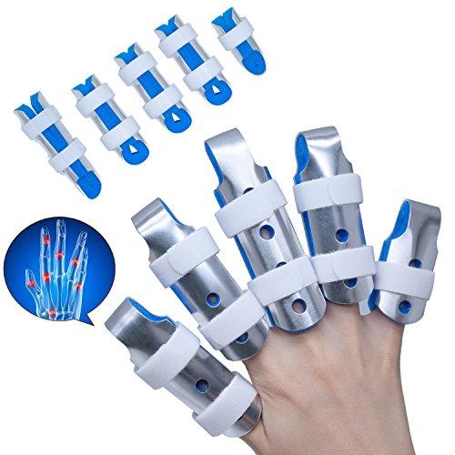 Sumifun Splint Finger, Mallet DIP Fingerschienen, Finger Extension Splint für Trigger Finger, Mallet Finger, Fingerknöchel Immobilisierung, Finger Frakturen (Extension Bracket)