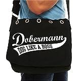 Schultertasche Dobermann als Tasche