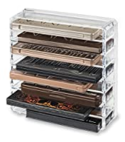 byAlegory Acrylic Palette Makeup Organiser With Removeable Dividers Designed To Stand & Lay Flat | 8 Spaces Fits Standard Size Palettes