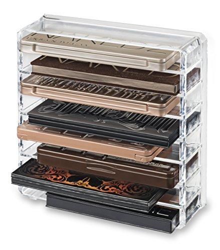 byAlegory Acryl Palette Makeup Organizer mit abnehmbaren Trennwänden entworfen, um zu stehen & Lay...