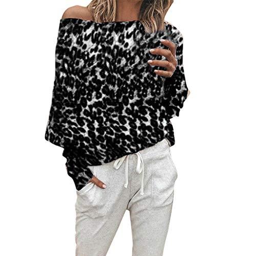 ♫♫ Amlaiworld Mode Leoparden drucken locker Sweatshirt Fitnesss Outdoor Elegant Pullover Gemütlich Urlaub Freizeit Pulli Damen Coole Langarmshirts - Oversize-rechner