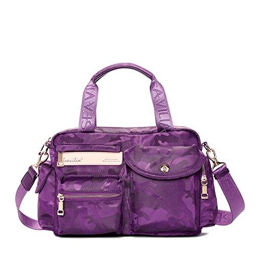 Borsa a tracolla Messenger/Canvas borsa in nylon semplice sport viaggio Tote/Messenger bag-B B