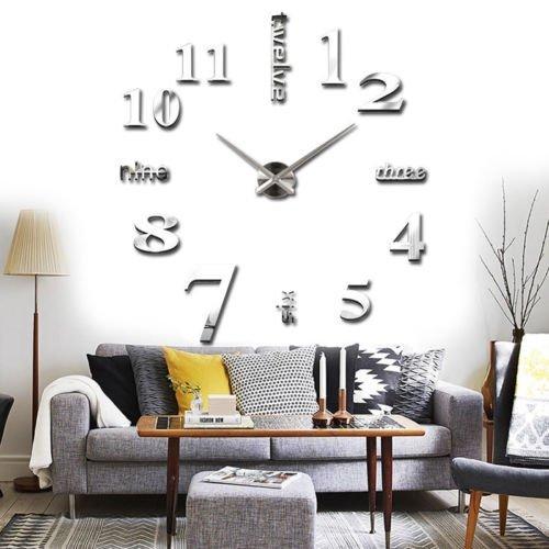 Wall sticker orologio digitale adesivi wall clock diy 3d orologio da parete decorativo per casa ufficio hotel ristorante ottimo regalo