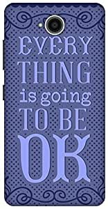 The Racoon Grip printed designer hard back mobile phone case cover for Microsoft Lumia 650. (Be OK Blue)