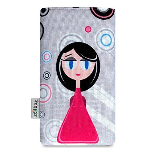 Stilbag Tasche 'MIKA' für Apple iPhone 6s plus - Design: Rose Flowers Pink Lady