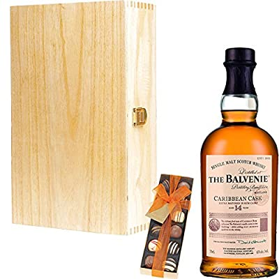 The Balvenie 14 Year Old Caribbean Cask Single Malt Scotch Whisky Corporate Gift Set With Handcrafted Gifts2Drink Tag