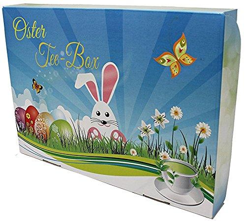 Frühling Garten Voll Latte (Oster Tee-Box, Ostern Geschenk - tolle Box mit 8 zauberhaften Teesorten á 50g (Osterkarton))