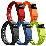 NINETEC Smartfit F2HR Rot Fitness Tracker mit Pulsmesser Bluetooth 4.0 Sport Armband Schrittzähler Aktivitätsarmband Fitnessarmband Sportuhr mit Schlafanalyse Kalorienanalyse SMS Anrufe - 8