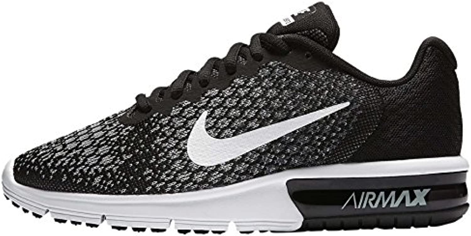 Nike Wmns Air Max Sequent 2, Zapatillas de Trail Running para Mujer, Multicolor (Black/White/Dark Grey/Wolf Grey...