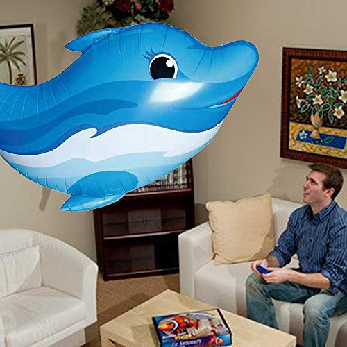 About1988 RC Air Swimmer Flying Shark,RC Ferngesteuerter Fliegender Hai-Fisch - Ferngesteuerter Riesenfisch, mit Helium gefüllt schwebt er in der Luft (Blau)