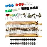 Kit mit elektronischen Komponenten mit Schaltern, Potentiometer, LED, Widerstände