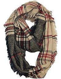 MRULIC Echarpes foulards femme Foulards chauds de dames élégantes  d impression rotative de rayure de e3894436d2f