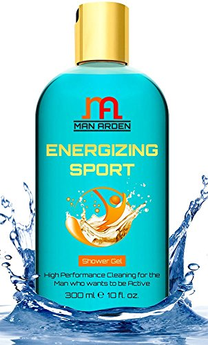Man Arden Energizing Sport Shower Gel - Spearmint Oil Body Wash, 300 ml / 10 fl oz