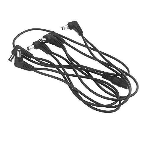 MagiDeal Kabel Verteiler 6-fach Effektgerät Verteilerkabel Daisy Chain mit 9V 2A europäischem Standard Netzteil Europäische Fach