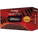 Prodipe 1i1o Interface MIDI USB 1 entrée/sortie pour Ordinateur portable/MacBook Noir