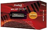 Prodipe P6-5 Midi USB 1i1o professionelles latenzfreies Midi Interface 2m