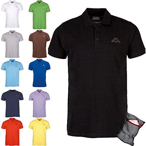 Kappa Herren Poloshirt Ziatec Edition mit praktischem Wäschenetz 1er bis 6er Packs in vielen Farben verfügbar, Größe:3XL, Farbe:10 x farbmix