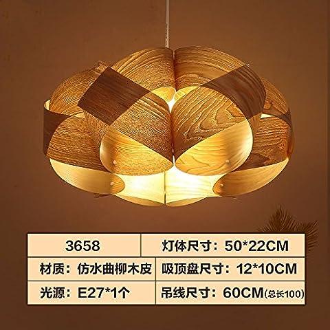 FuRongHuang Holz- Kronleuchter Kronleuchter Kronleuchter Led-Innenbeleuchtung, F Kronleuchter 50 * 22 Cm