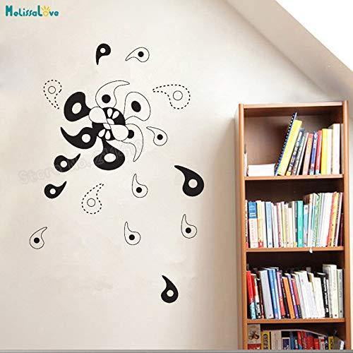 zhuziji Vinyl Wandaufkleber Abstrakte Windrad Selbstklebende Wandbilder Wohnkultur Für Wohnzimmer Schlafzimmer Einzigartige Aufkleber weiß 42x63 cm - Windrad-tasche