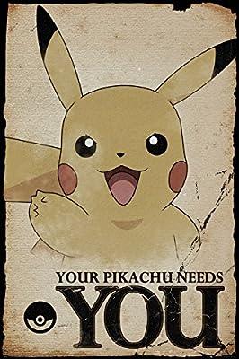 Pokemon Maxi Poster 61 x 91,5 cm Pikachu Needs You