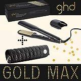 Ghd - Plancha de pelo Styler Max Gold, ancha placa de cerámica, incluye estuche Ghd redondo