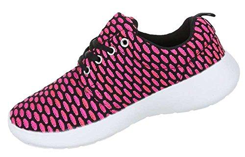Damen Schuhe Freizeitschuhe Schnürer Sneaker Pink