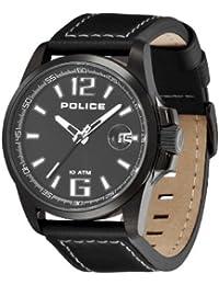 Police Lancer P12591JSUB-02 - Reloj de caballero de cuarzo, correa de piel color negro