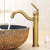 Eeayyygch Grifo Mezclador de Agua Caliente y fría de Cobre El Grifo Antiguo del Lavabo Puede Girar el Grifo del Lavabo (Color : -, tamaño : -)