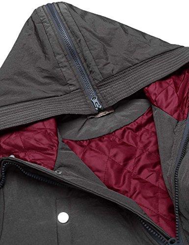 Chigant Damen Wasserfall Knielang Mantel Trenchcoat Cardigan Übergangsmantel mit Gürtel Grau