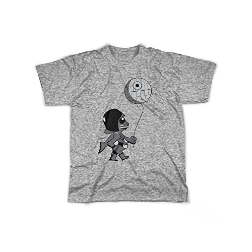 rt mit Aufdruck in Grau Gr. XXL Little Lord Todesstern Design Boy Top Jungen Shirt Herren Basic 100% Baumwolle Kurzarm (Sith-lord-outfit)