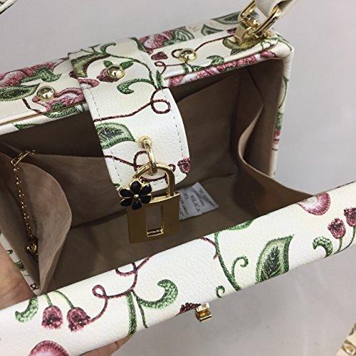 3D-Druck fashion Taschen Handtasche Schultertasche Handtasche Leder Crossbody-tasche Beige