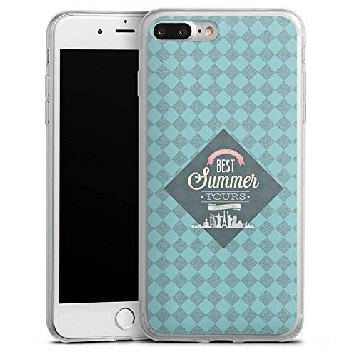 Apple iPhone 8 Slim Case Silikon Hülle Schutzhülle sommer Reise Statement Silikon Slim Case transparent