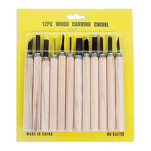 12 Set Holzschnitzerei Werkzeuge Messer Kit Handwerk Messer für Gummi Kleine Kürbis Seife Gemüse und mehr für Kinder & Anfänger