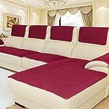 Thick Anti-scivolo Divano divano protector, Multi-size Gli slipcovers Fodera per divano componibile, Braccio di copridivano, Per divano in pelle Venduto in pezzi-Rosso 30x60cm(12x24inch) 2pcs
