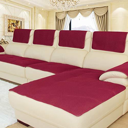 CClz Anti-rutsch Atmungsaktive Sofabezug Für Haustiere Hund, Sommer Sectional Sofa Sofa Überwurf Für Ledersofa Schmutzabweisend Möbel Protector-rot 80x210cm(31x83inch) -