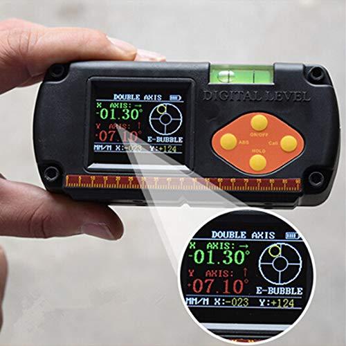 Dax Digital - Inclinómetro digital de doble eje con regla de ángulo y medidor de elevación