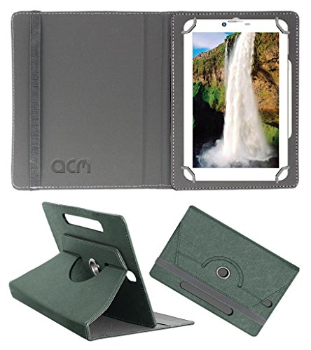 Acm Designer Rotating Leather Flip Case for Champion Bsnl 709 Cover Stand Grey  available at amazon for Rs.169