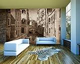 selbstklebende Fototapete - Venedig V - sephia - sepia - 310x200 cm - Tapete mit Kleber – Wandtapete – Poster – Dekoration – Wandbild – Wandposter – Wand – Fotofolie – Bild – Wandbilder - Wanddeko