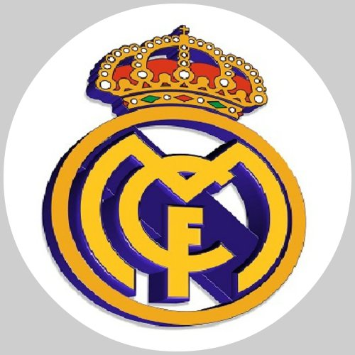 Tortenaufleger Tortenfoto Aufleger Foto Bild Fußball Madrid rund ca. 20 cm *NEU*OVP*