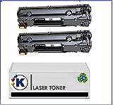 Toner per Canon i-SENSYS LBP6020 toner compatibile, 2 x 2 x, Canon CRG 725) 725, non originale, Cartuccia di toner per stampanti Canon