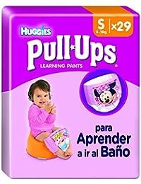 Huggies Pull-Ups - Braguitas de aprendizaje para niñas, talla S (8-15 kg), 29 braguitas