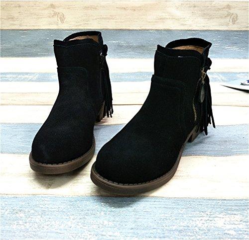 Stivaletti Donna stivali irregolare con finitura opaca black