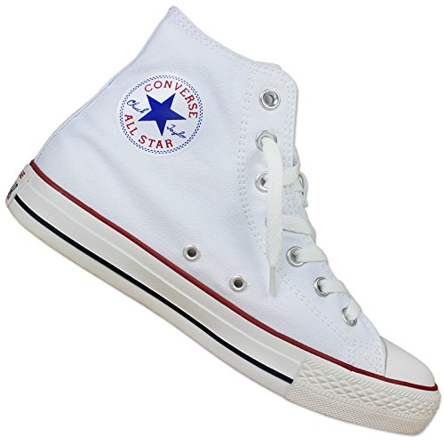 CONVERSE CHUCK TAYLOR ALL STAR HI CANVAS WEIß TURNSCHUHE CHUCKS SNEAKER 35-43 Optical White