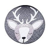 bismarckbeer niedliche Schaf Elk Infant Baby Krabbeldecke Boden Teppich rund Spielteppich Sleeping Teppich Kids Room Decor