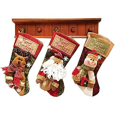 Babbo Natale Toilet Seat Cover Set, Megadream® Natale Babbo Natale Festival decorazione coprisedile WC, Tessuto (Animated Christmas Decor)
