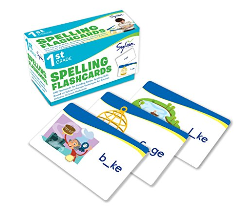 1st Grade Spelling Flashcards: 240 Flashcards for Building Better Spelling Skills Based on Sylvan's Proven Techniques for Success (Flashcards Language Arts) por Sylvan Learning